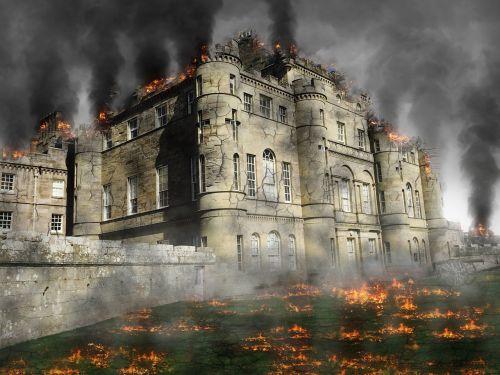 castle ruin attack