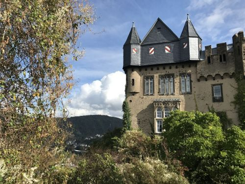 castle middle rhine rhine