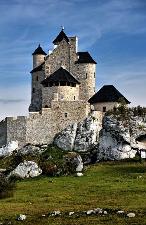castle bobolice poland