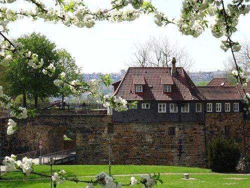 castle  esslingen  spring