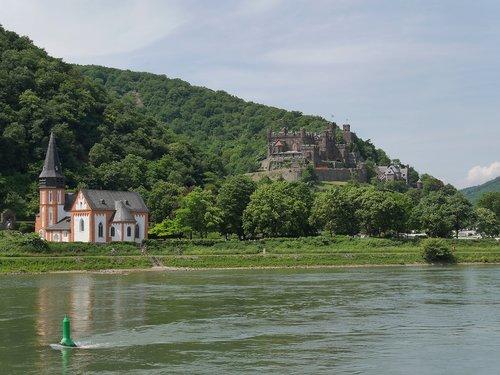 castle  reichenstein  rhine