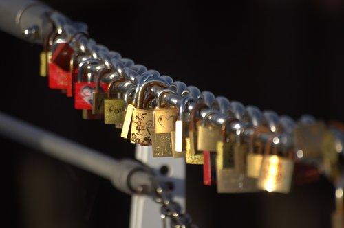 castle  bridge  love locks