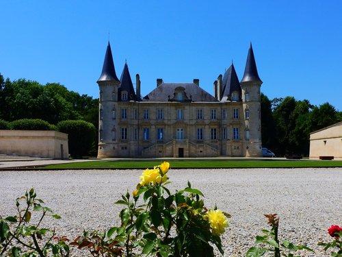 castle  france  wine