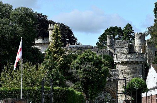 castle  england  flag