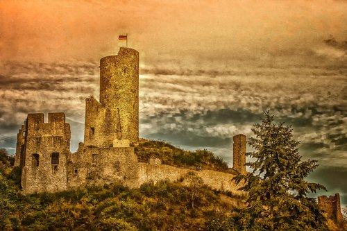 castle  monreal  rhineland palatinate
