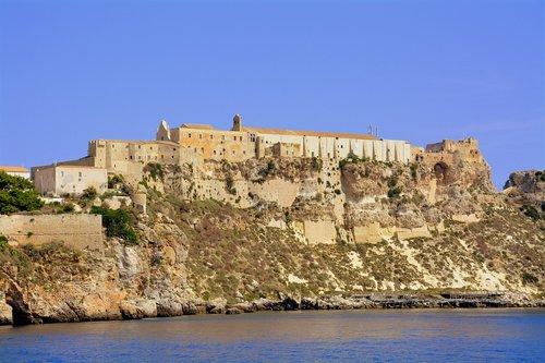 castle  cliff  rock