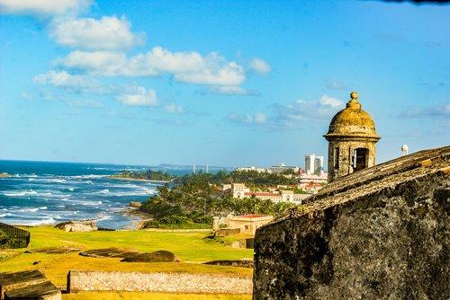 castle  puerto rico  ocean