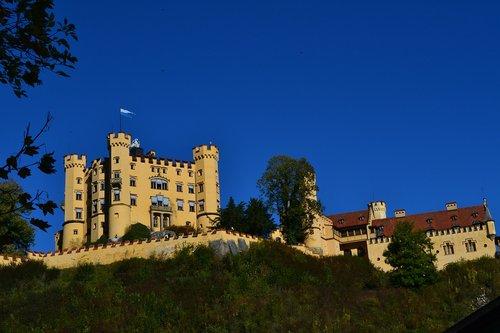 castle  hohenschwangau  bavaria