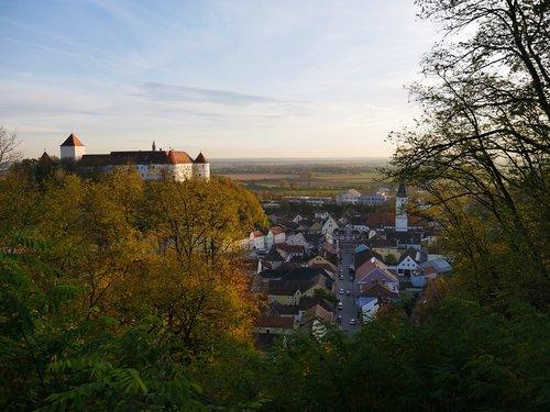 castle  germany  autumn