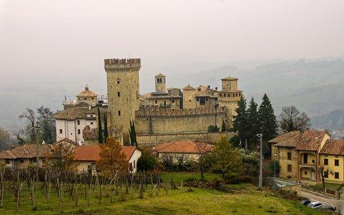 castle  fortress  medieval village