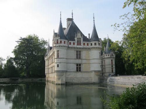 castle architecture azay-le-rideau