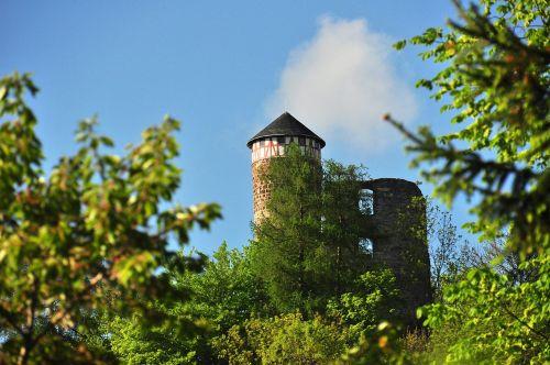 castle steinbach-hallenberg sky
