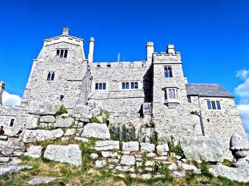 castle,fortress,cornwall,st michael's mount,middle ages,building,free photos,free images,royalty free