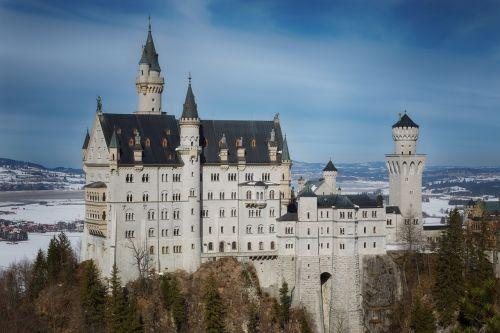 castle winter nature