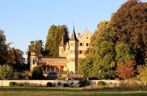 autumn castle vegetation