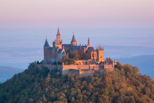 castle hohenzollern sunrise