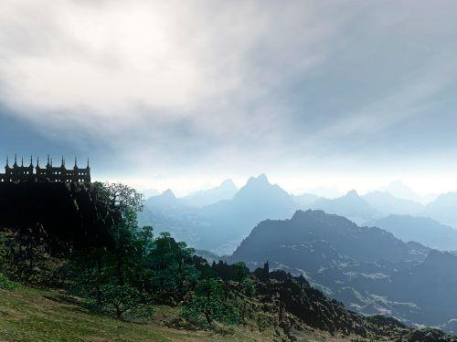 Castle Background 04
