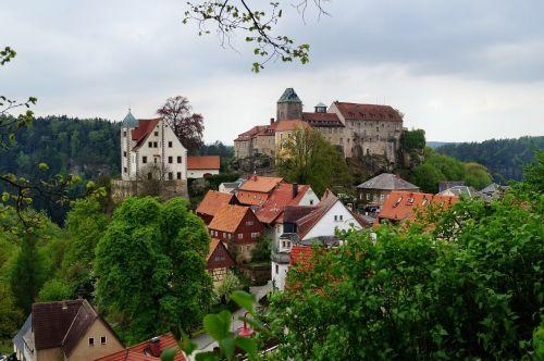 castle hohnstein height burg rock castle