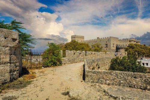 Castle In Rhodes Greece
