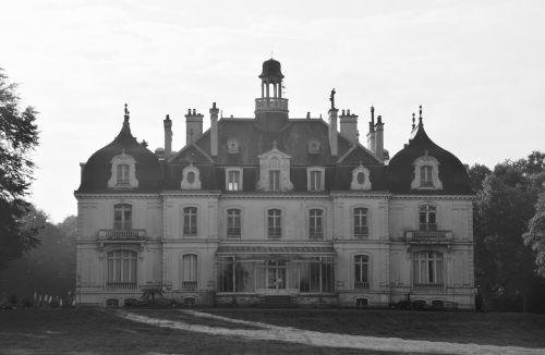 castle of the parc de la briantais photo black white saint malo tourist town
