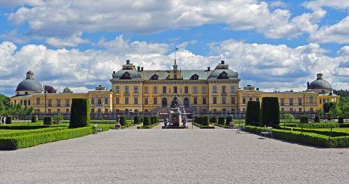 castle park drottningholm symmetrical