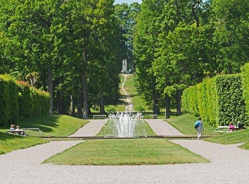 castle park  drottningholm  sweden