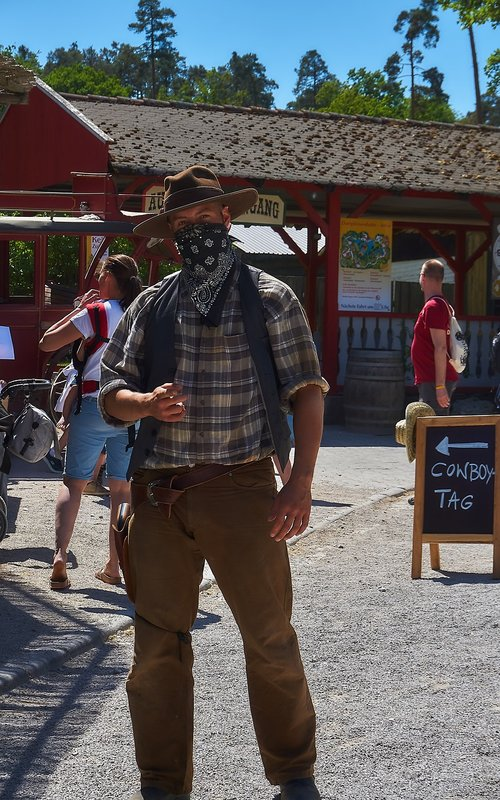 castle thurn  theme park  cowboy