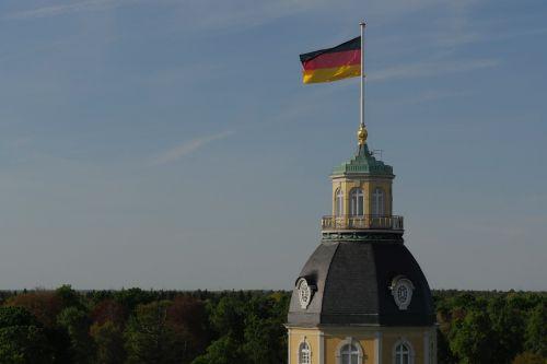 castle tower germany flag flag