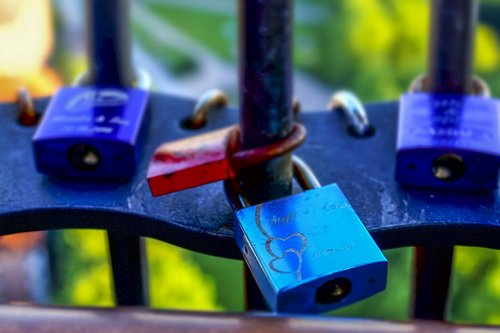 castles  love locks  colorful