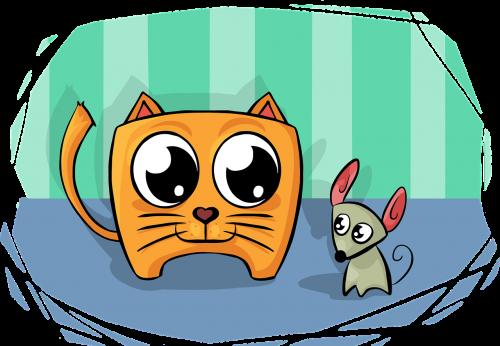 cat mouse friend