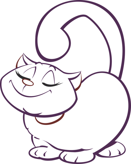 cat drawing cute