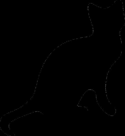 cat black silhouette