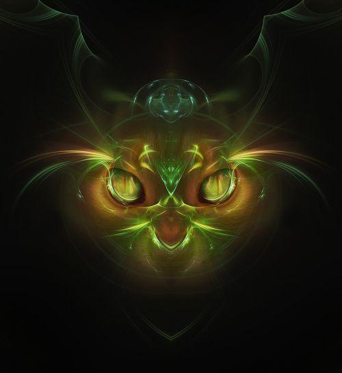 cat abstract fantasy
