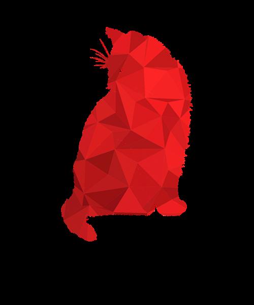 cat red cat pink cat