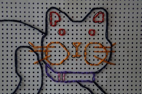 cat tinker embroidery