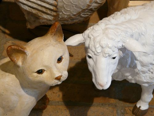 cat sheep figures
