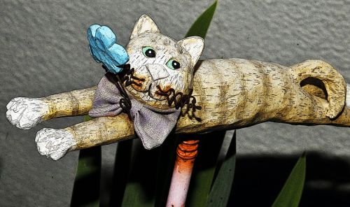 Cat Garden Decor