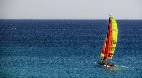 catamaran boat sea