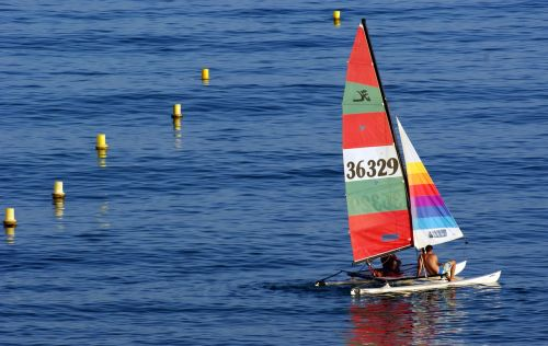 catamaran sailboat sea