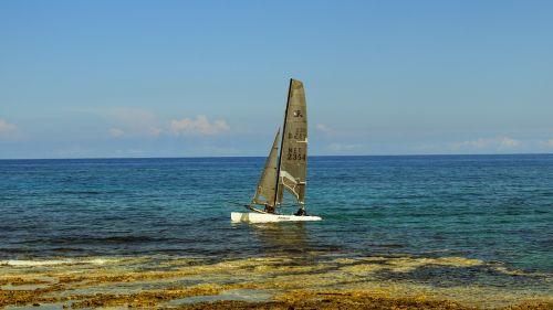 catamaran sailing sea
