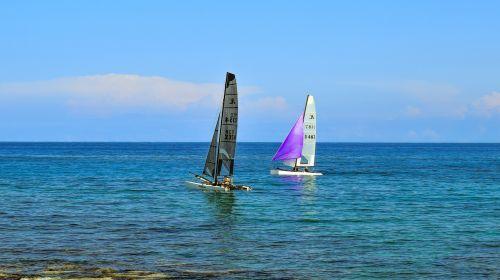 catamaran sailboat sea