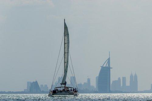 catamaran  sailing boat  dubai