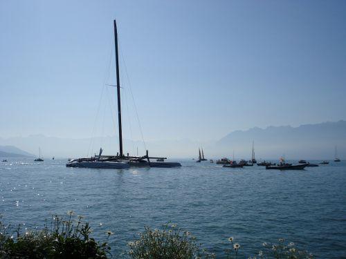 catamaran boat lake geneva