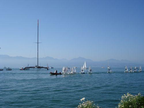 catamaran alinghi lake geneva