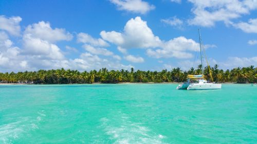 Catamaran In Caribbean