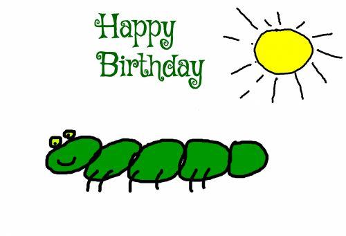 Caterpillar Birthday Card