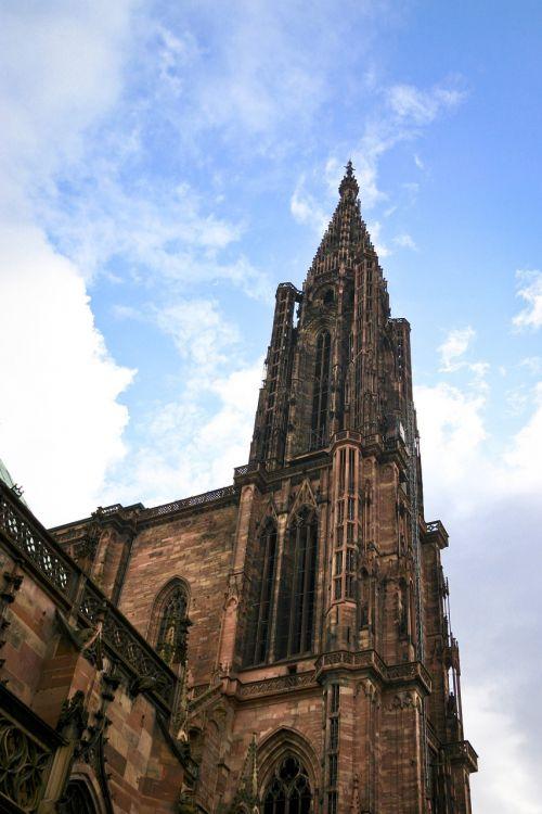cathedral strasbourg sky
