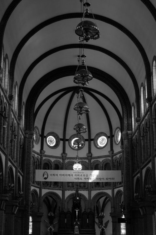 cathedral jeonju black and white