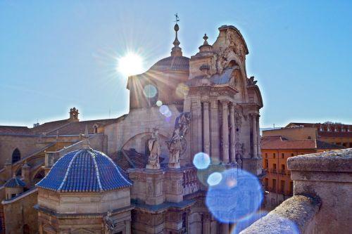 katedra,bažnyčia,barokas,Ispanija,architektūra,katedros kupolas,kupolas,parapija,fasadas,murcia,belluga,kardinolas,plaza