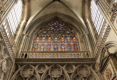 cathedral stained glass window religion